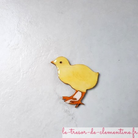 Magnet de collection poussin jaune paille
