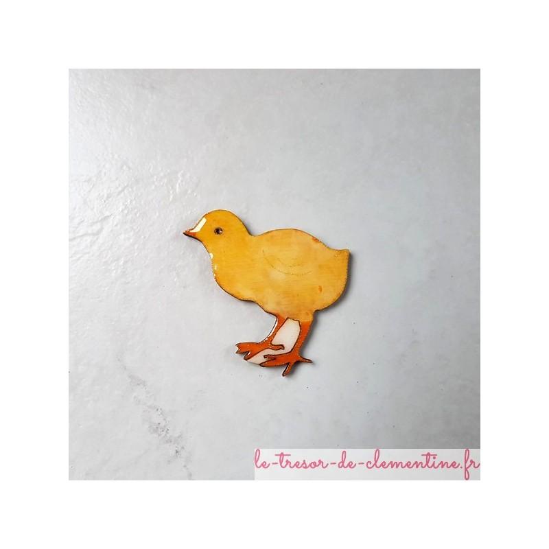 Magnet de collection poussin jaune, fabrication française cadeau utile