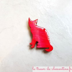 Magnet collection chat rosecréation artisanale